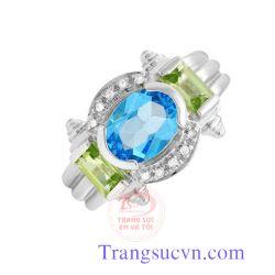 Nhẫn nữ Topaz và Peridot đẹp