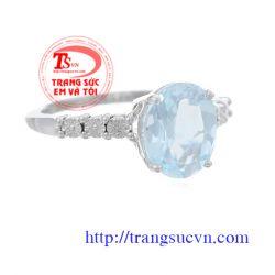 Nhẫn nữ vàng đá quý đẹp