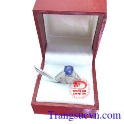 Nhẫn nữ sapphire đẹp