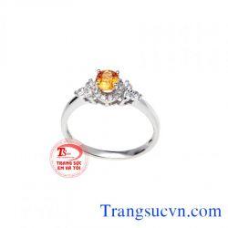 Nhẫn đá saphir vàng nữ  đẹp