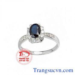 Nhẫn nữ vàng 14k sapphire đẹp