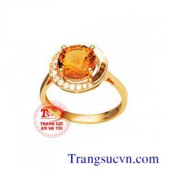 Nhẫn vàng nữ sapphire đẹp