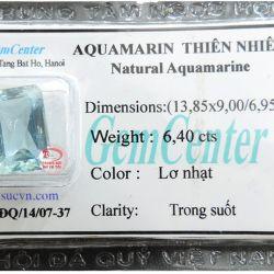 Đá Aquamarine chữ nhật đẹp