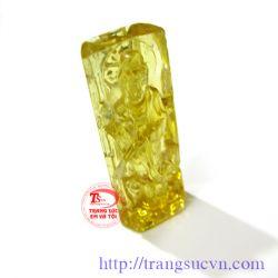 Berin (beryl) vàng-tượng phật đẹp