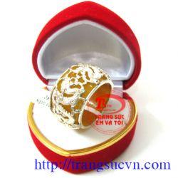 Nhẫn Ngọc Vàng Song Long đẹp