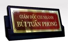 Biển Chức Danh Để Bàn Đồng CD1
