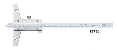 Thước đo sâu cơ khí 527-201 (0-150mm/0.05mm)