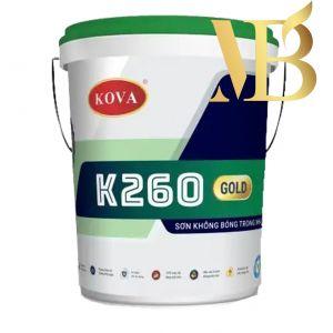 Sơn Kova K-260 sơn nước trong nhà không bóng - trắng mịn