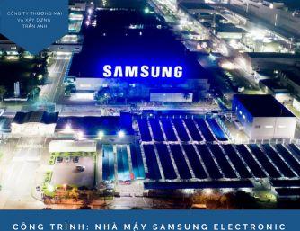 Dự án sơn chống nóng Samsung Việt Nam