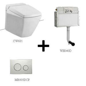 Bồn cầu ToTo CW681 kèm sản phẩm đồng bộ