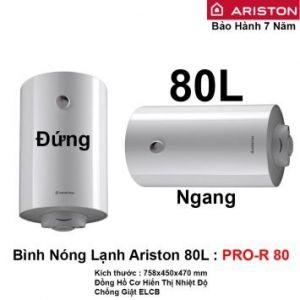 Bình Nóng Lạnh Ariston 80L PRO-R 80