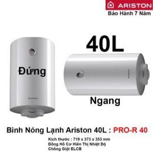 Bình Nóng Lạnh Ariston 40L PRO-R 40