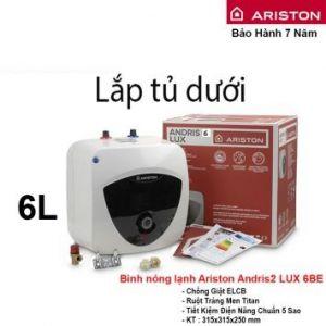 Bình Nóng Lạnh Ariston 6L AN2 LUX 6BE (6L- lắp tủ dưới)