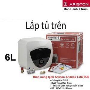 Bình Nóng Lạnh Ariston 6L AN2 LUX 6UE (6L- Lắp Tủ Trên)