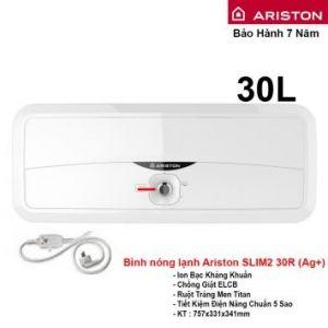 Bình Nóng Lạnh Ariston 30L Slim2 30R (Ag+)