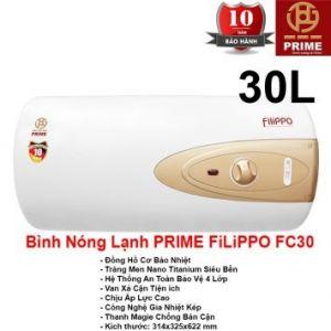 Bình Nóng Lạnh Prime 30L FILIPPO FC30