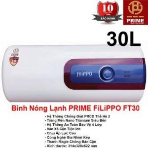 Bình Nóng Lạnh Prime 30L FILIPPO FT30