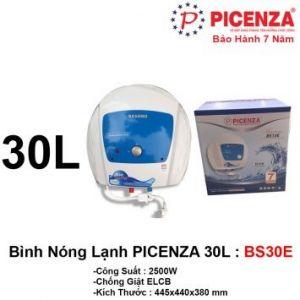 Bình Nóng Lạnh 30L PICENZA BS30E