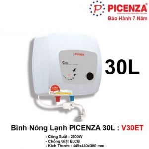 Bình Nóng Lạnh 30L PICENZA V30ET