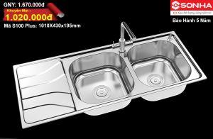 Chậu rửa bát Inox Sơn Hà S100-Plus