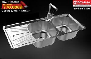Chậu rửa bát Inox Sơn Hà S100-S