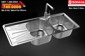 Chậu rửa bát Inox Sơn Hà S100