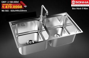 Chậu rửa bát Inox 304 Sơn Hà S82