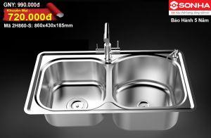 Chậu rửa bát Inox Sơn Hà 2H860-S