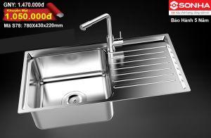 Chậu rửa bát Inox 304 Sơn Hà S78