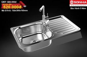Chậu rửa bát Inox Sơn Hà S79-S