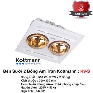 Đèn Sưởi Âm Trần Kottmann K9-S