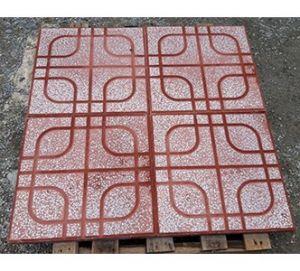 Gạch vỉa hè 40x40 QP2 màu đỏ